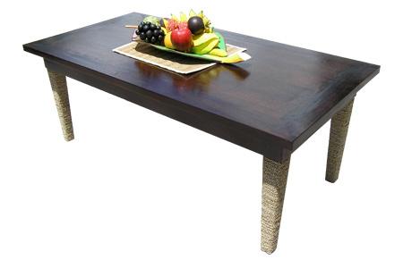 マホガニー シーグラスレッグ コーヒーテーブル