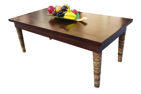 マホガニー バナナリーフレッグ コーヒーテーブル