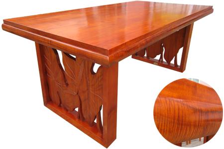 アカシアウッド ロイヤルカービング ダイニングテーブル