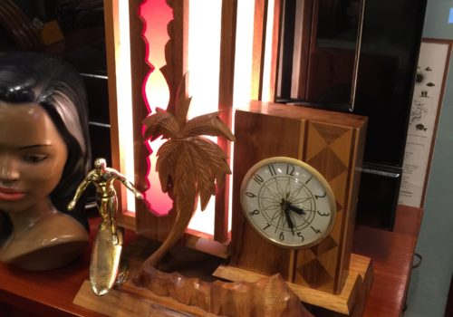 Koawood Surf Trophy Screen Lamp with Clock