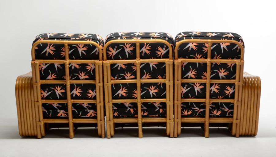 Rattan King Square Pretzel Sofa 3seats