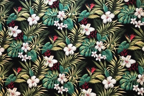 Hibiscus Garden Black<NEW>