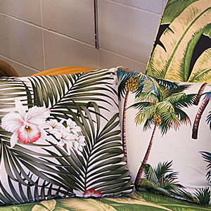 HAWAIIAN FABRIC CUSHION