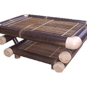 バンブー パラン コーヒーテーブル(ブラック)