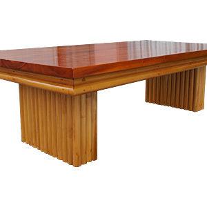 ラタン マホガニー ヴァーチカルレッグ コーヒーテーブル
