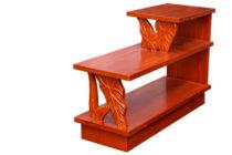 マホガニー カービング コアスタイル ステップエンドテーブル