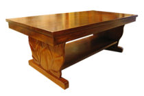 アカシアウッド ロイヤルカービング コーヒーテーブル (B)