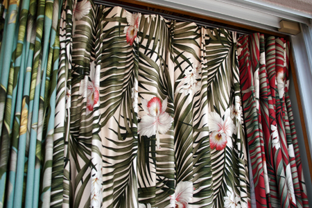 HAWAIIAN FABRIC CURTAIN