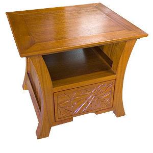 ハワイアン カービング ランプテーブル