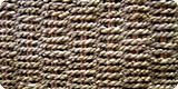 イネ科の植物で畳に使われているい草の一種。麻ひものようによりあわせたものを編んでいます。