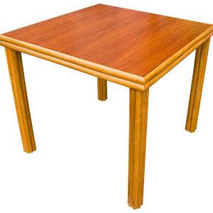 ラタン 4スクウェアレッグ ダイニングテーブル