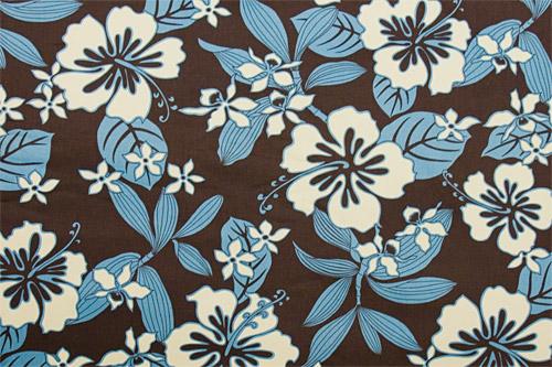 Tahitian Hibiscus Aqua Brown <在庫僅か>