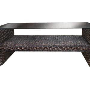 ウォーターヒヤシンス Hフレーム グラストップ コーヒーテーブル